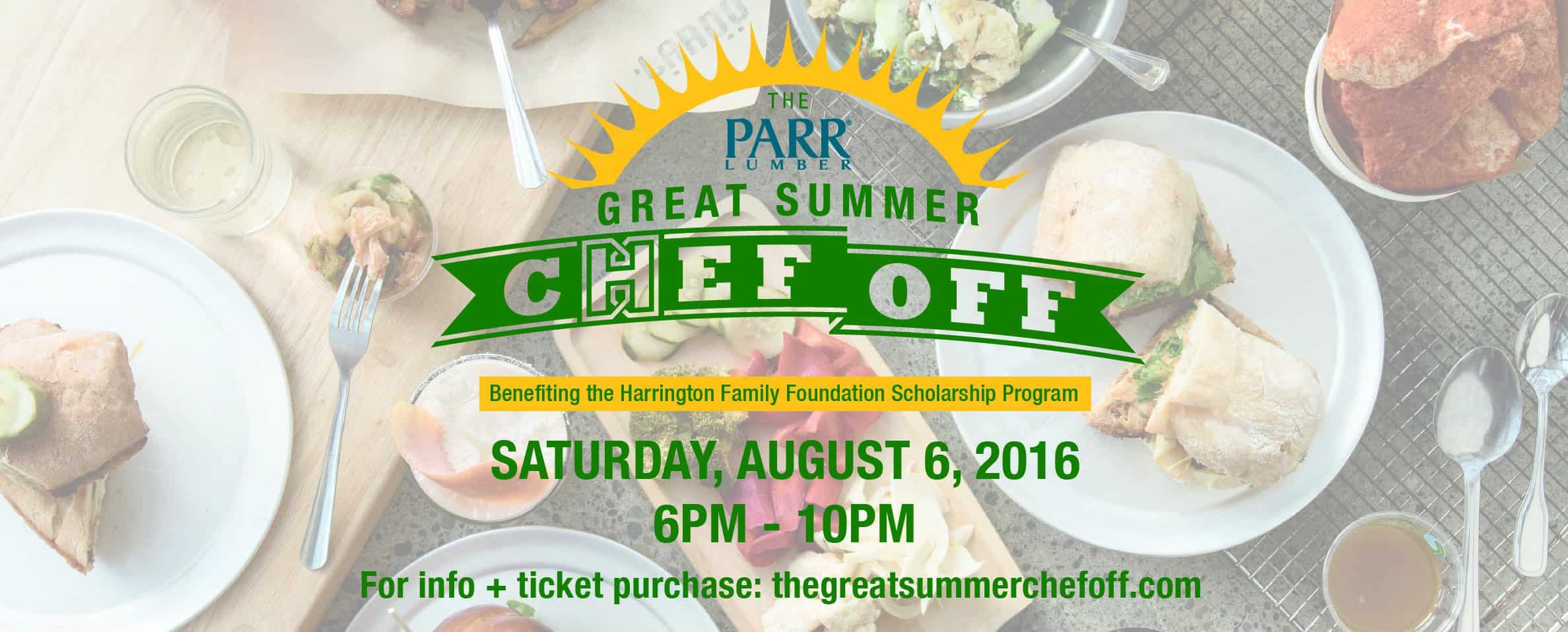 The Parr Lumber Great Summer Chef Off is back and tickets are selling out!