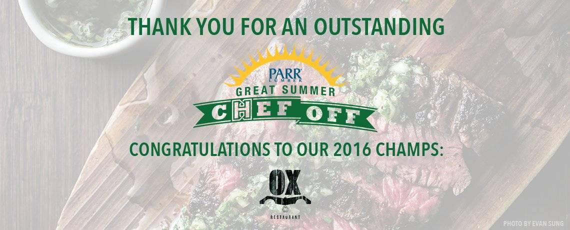 Another successful grill-off: our 2016 Great Summer Chef Off wrap-up!